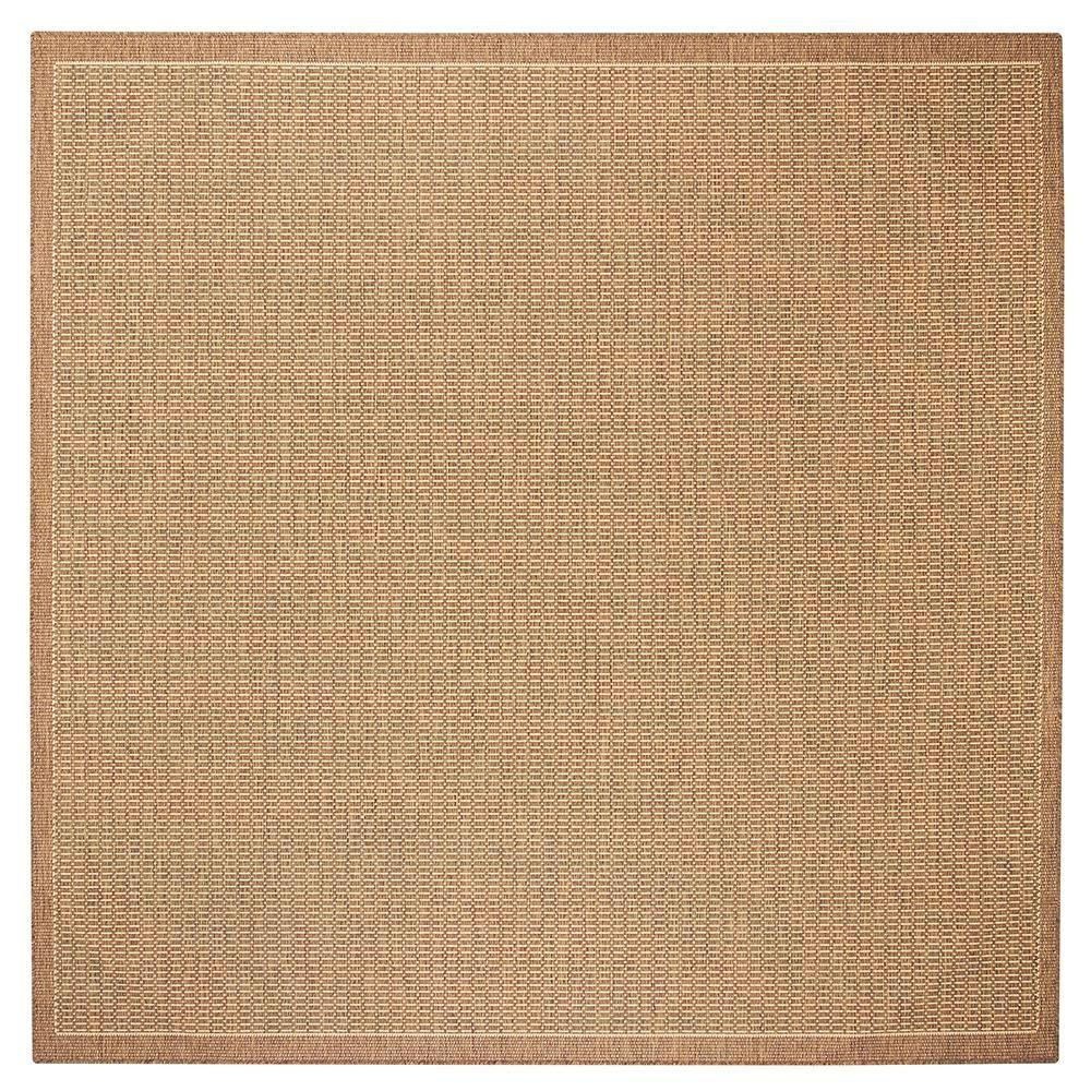 Home Decorators Collection Saddlestitch Cocoa Natural 7 Ft