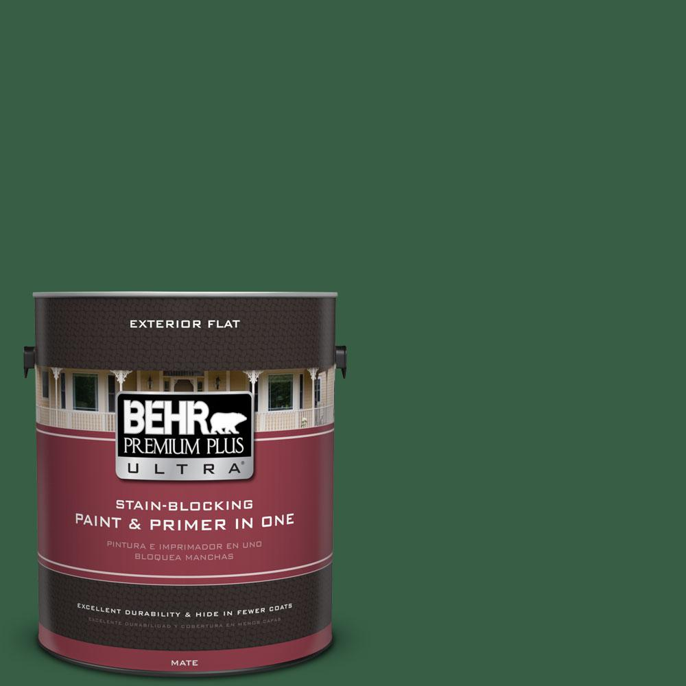 1-gal. #470D-7 Windy Pine Flat Exterior Paint