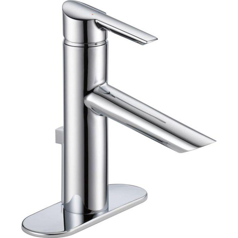 Delta Compel Single Hole Single-Handle Bathroom Faucet with Metal ...