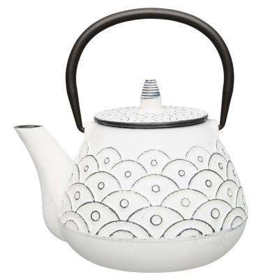 Studio 1 Qt. White Cast Iron Teapot