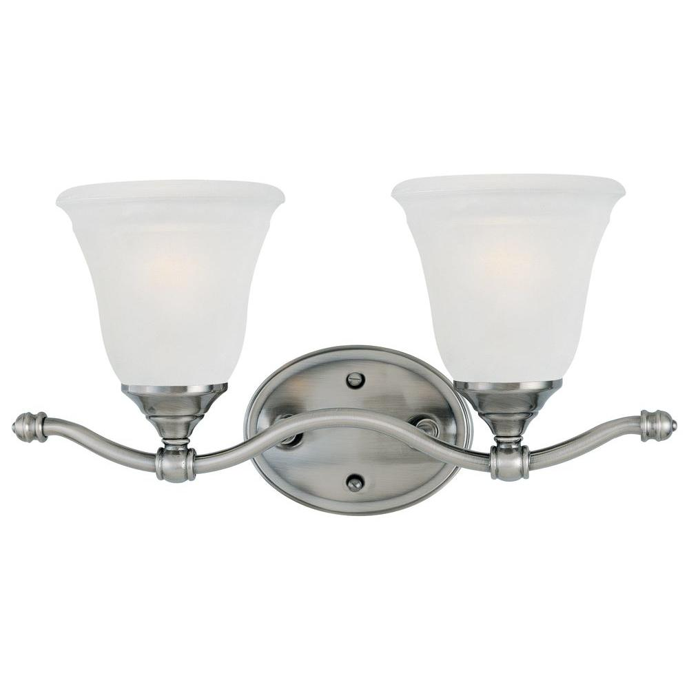 Thomas Lighting Harmony 2-Light Satin Pewter Bath Fixture