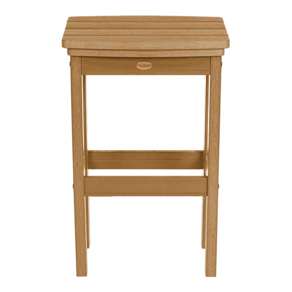 Pleasing Highwood Lehigh Toffee Recycled Plastic Outdoor Bar Stool Inzonedesignstudio Interior Chair Design Inzonedesignstudiocom