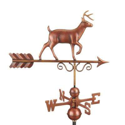 Proud Buck Weathervane - Pure Copper Hand Finished Bronze Patina