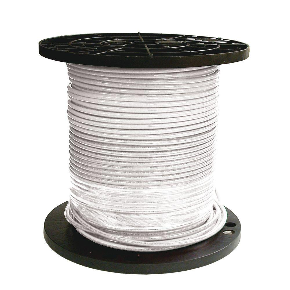 1000 ft. 6 White Stranded CU SIMpull THHN Wire
