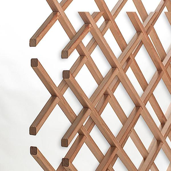 American Pro Decor 28-Bottle Trimmable Wine Rack Lattice Panel Inserts in Unfinished Solid North American Cherry