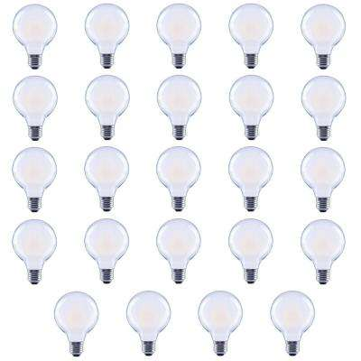 40-Watt Equivalent G25 Globe Vanity Frosted Glass Vintage Edison Filament Dimmable LED Light Bulb Soft White (24-Pack)