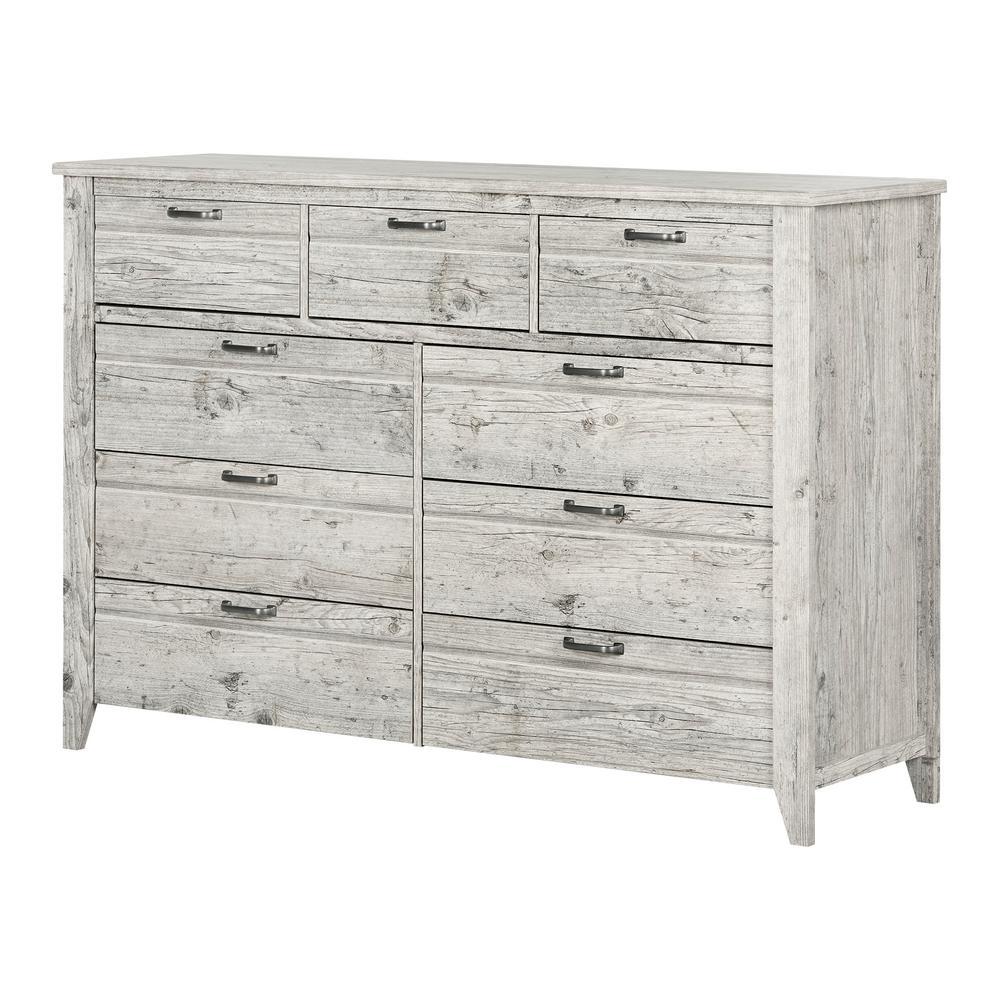 South Shore Lionel 9-Drawer Seaside Pine Dresser 11880