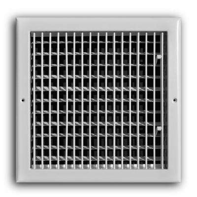 12 in. x 12 in. Adjustable 1-Way Wall/Ceiling Register