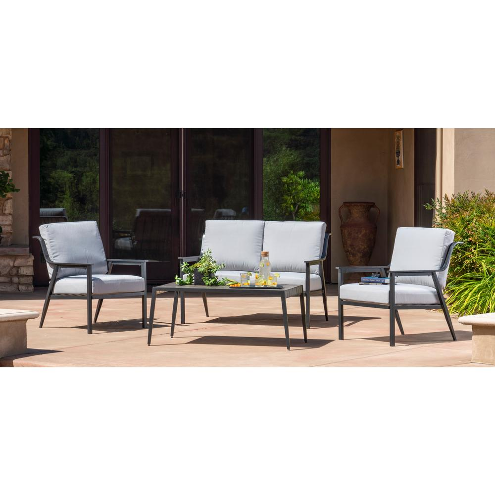 Foremost Casual Lemoore 4-Piece Metal Patio Deep Seating