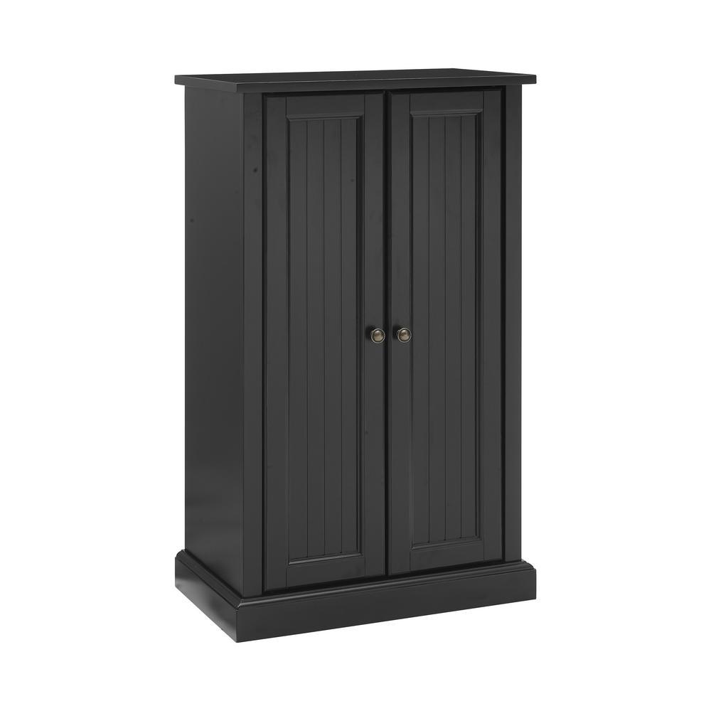 Seaside Black Accent Cabinet