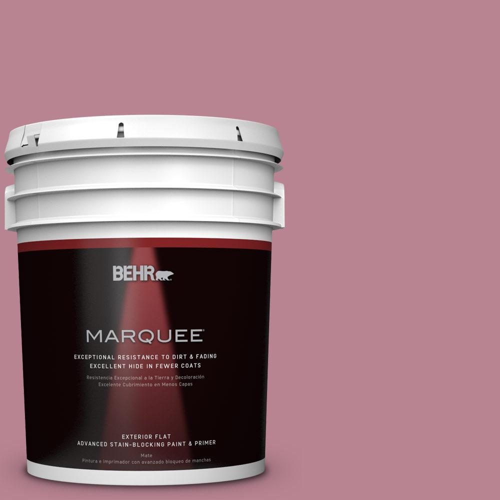 BEHR MARQUEE 5-gal. #BIC-19 Berry Blush Flat Exterior Paint