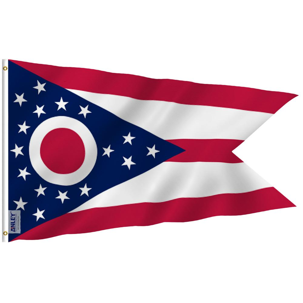 Anley Fly Breeze 3 Ft X 5 Ft Polyester Ohio State Flag 2