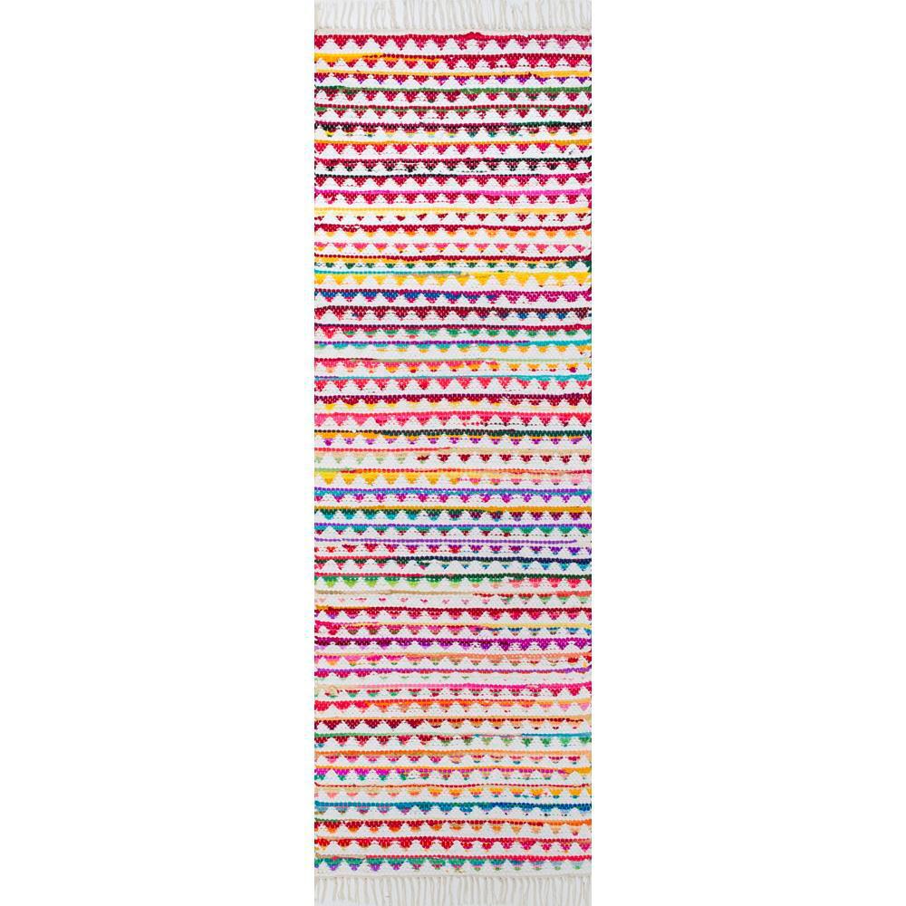 nuLOOM Rainbow Albina Multi 2 ft. 6 in. x 8 ft. Runner Rug