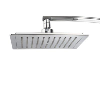 1-Spray 9 in. Single Wall Mount Waterfall Fixed Shower Head in chrome