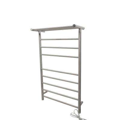 Eve 8-Bar Stainless Steel Wall Mounted Electric Towel Warmer Rack in Brushed Nickel