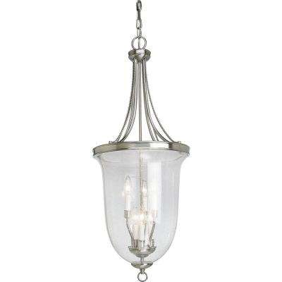 Seeded Glass Collection 6-Light Brushed Nickel Foyer Pendant