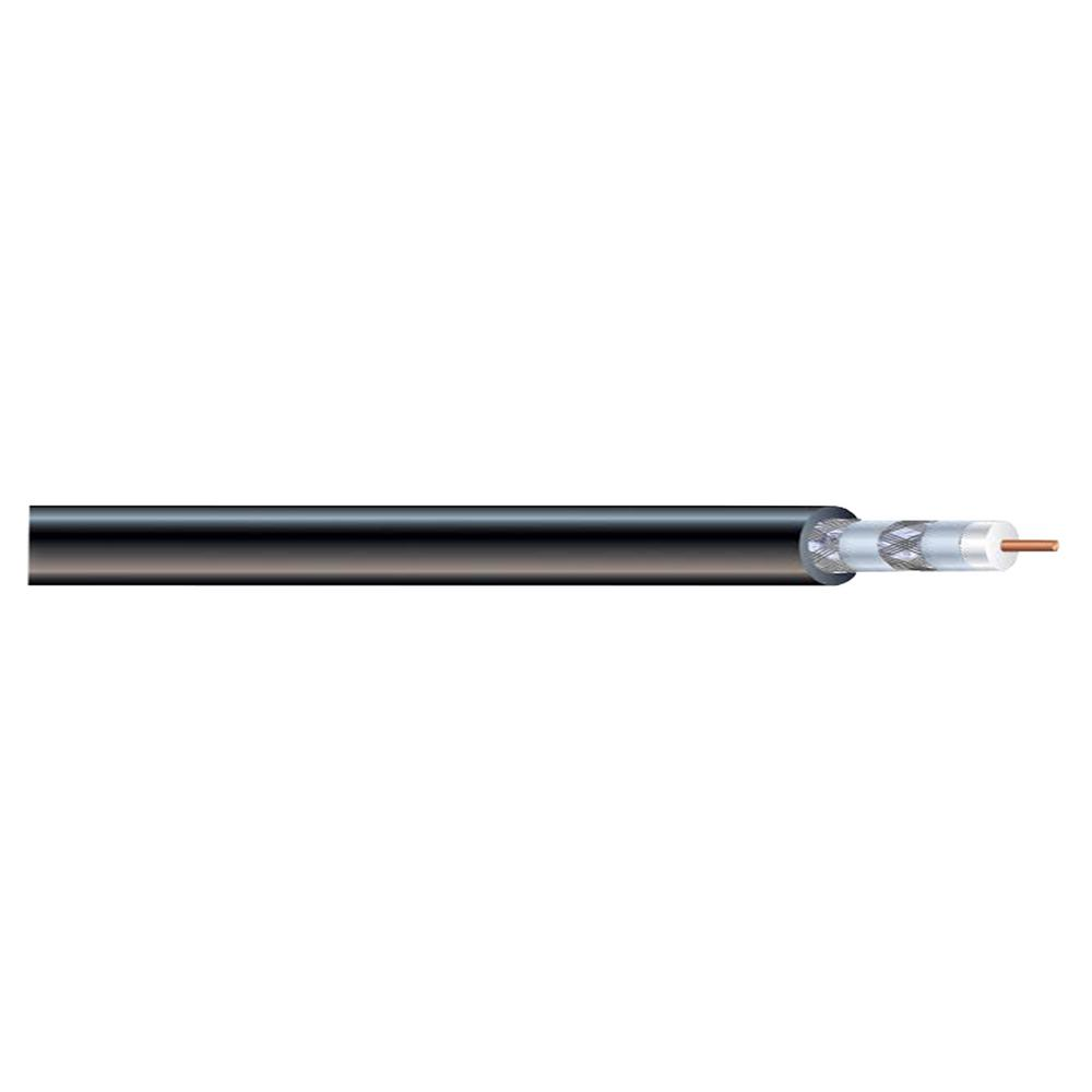 Syston Cable Technology 1000 ft. RG6U Quad Shield Black Coaxial Cable