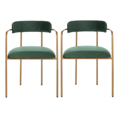 Camille Malachite Green/Gold Accent Chair (Set of 2)