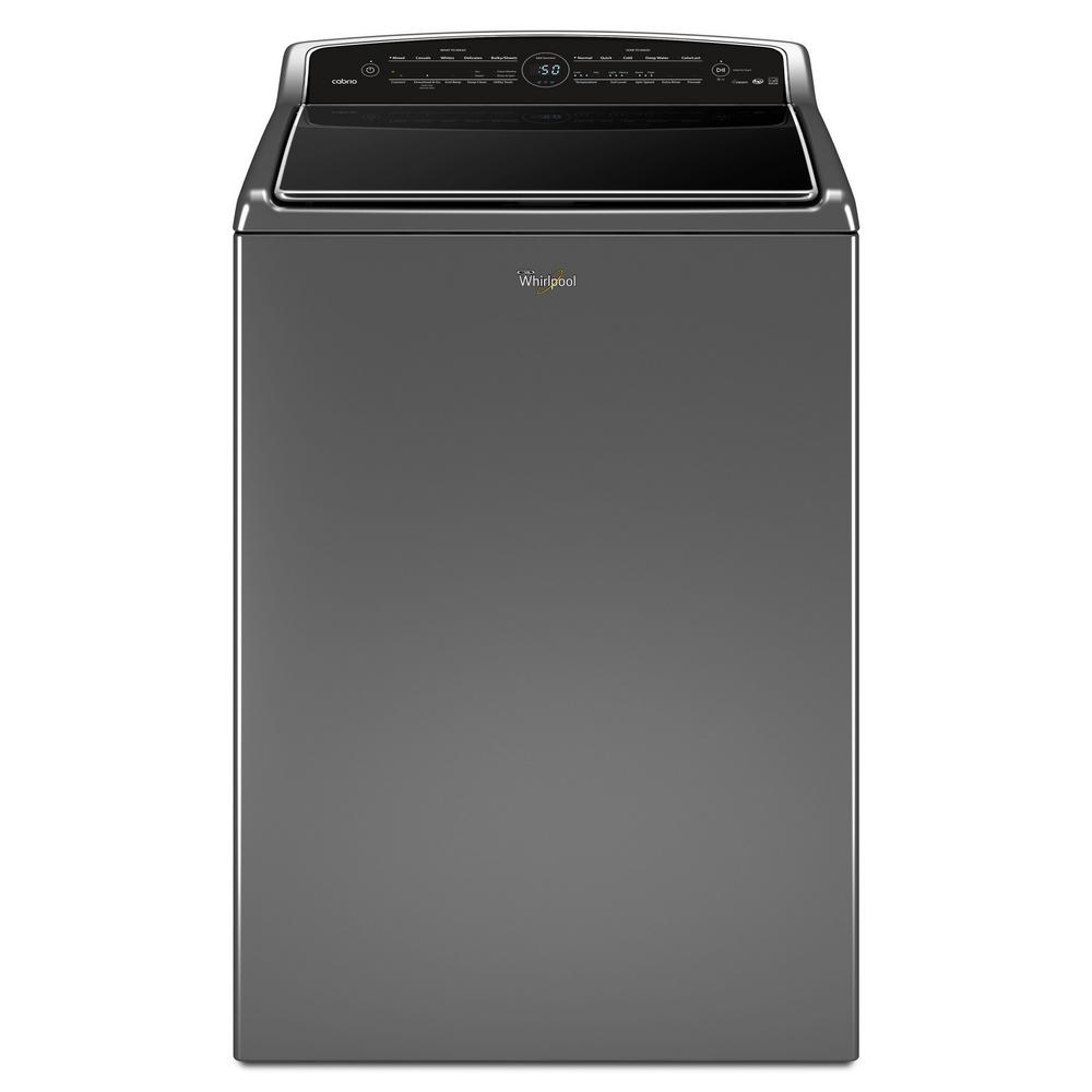 Whirlpool 5.3 cu. ft. High-Efficiency Smart Chrome Shadow Top Load Washing Machine with Remote Control, ENERGY STAR