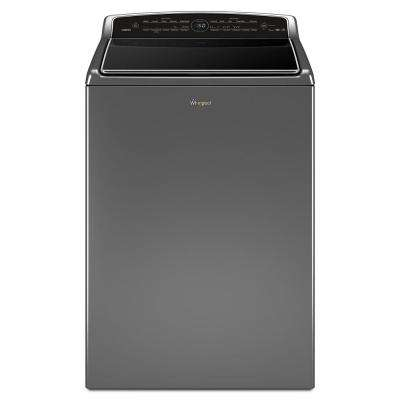 5.3 cu. ft. High-Efficiency Smart Chrome Shadow Top Load Washing Machine with Remote Control, ENERGY STAR