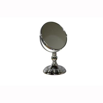 12.25 in. Silver Chrome Round 7x Magnify Makeup Mirror