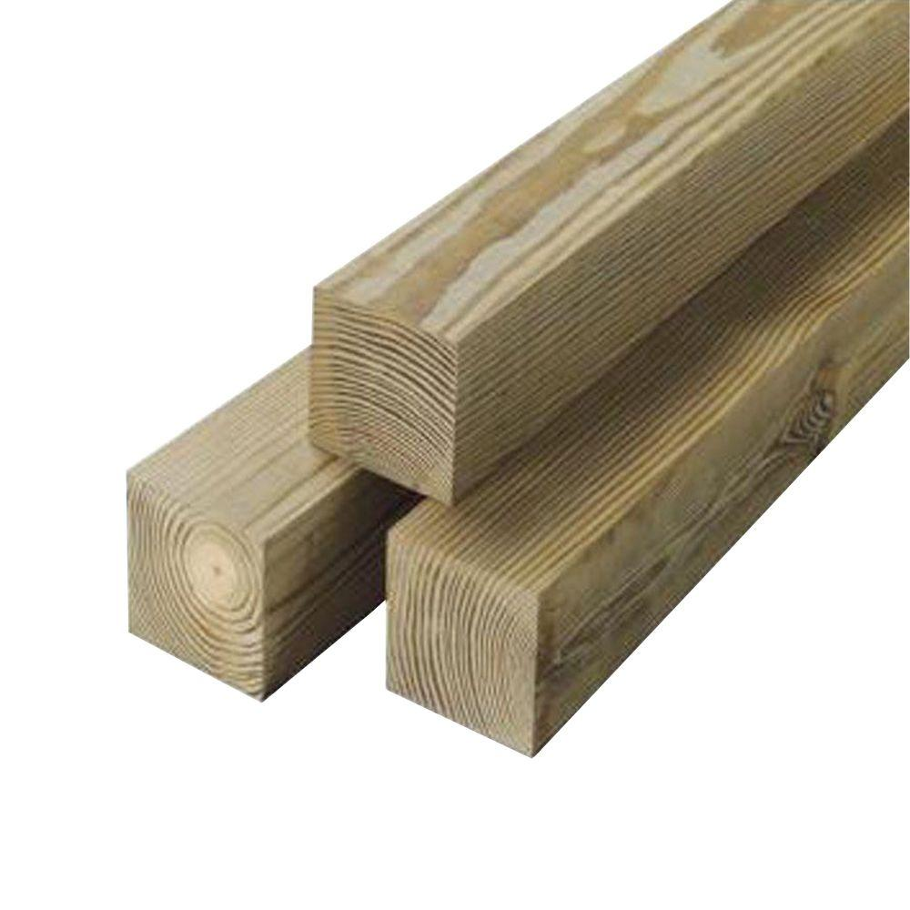 6 in. x 6 in. x 8 ft. Rough Timber Treated to Light Duty