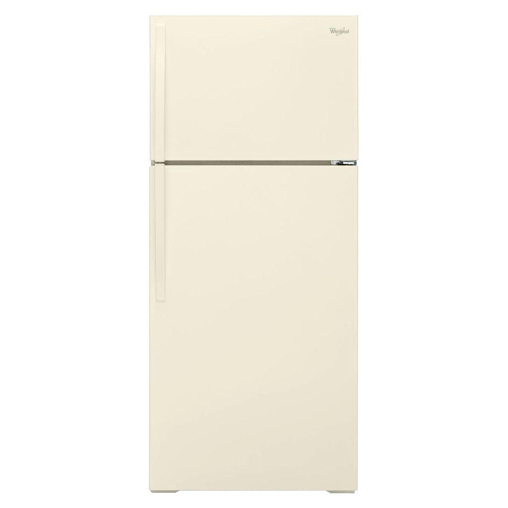 Whirlpool 16 cu. ft. Top Freezer Refrigerator in Biscuit