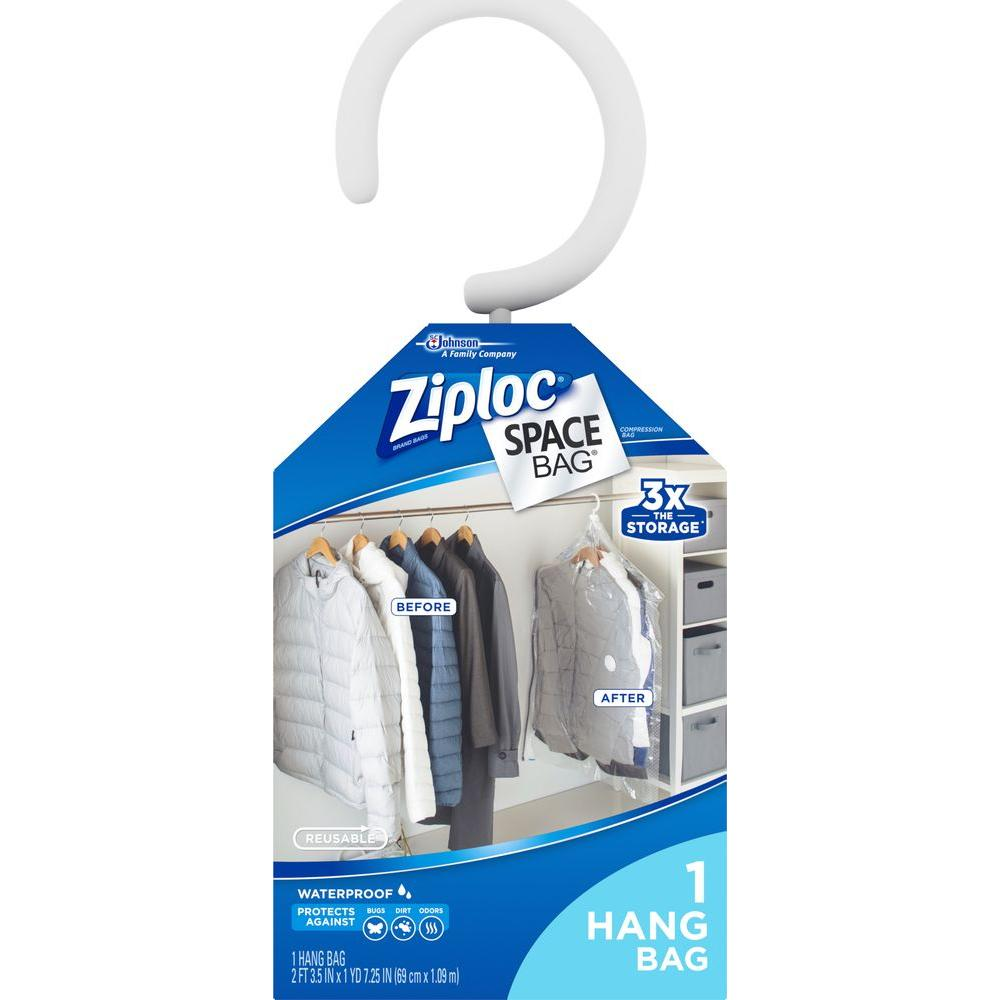 ZIPLOC Large 43.25 in. x 27.5 in. Plastic Hanging Suit Sp...
