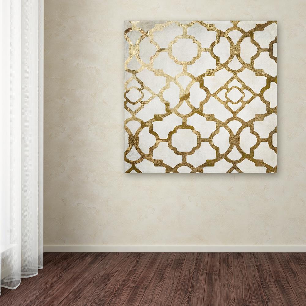 "Gold Wall Art Trademark Fine Art 35 Inx 35 In""moroccan Gold Ii""color"
