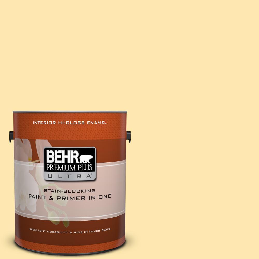 1 gal. #P290-2 Sweet As Honey Hi-Gloss Enamel Interior Paint