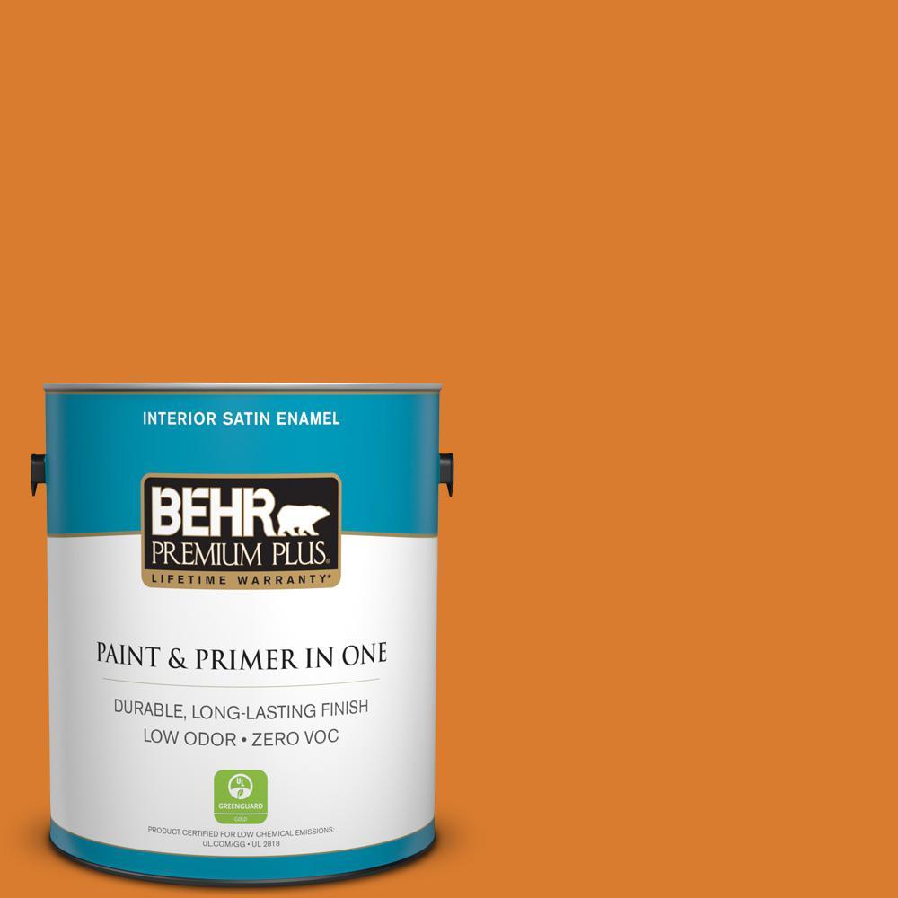 1-gal. #270B-7 Bonfire Zero VOC Satin Enamel Interior Paint
