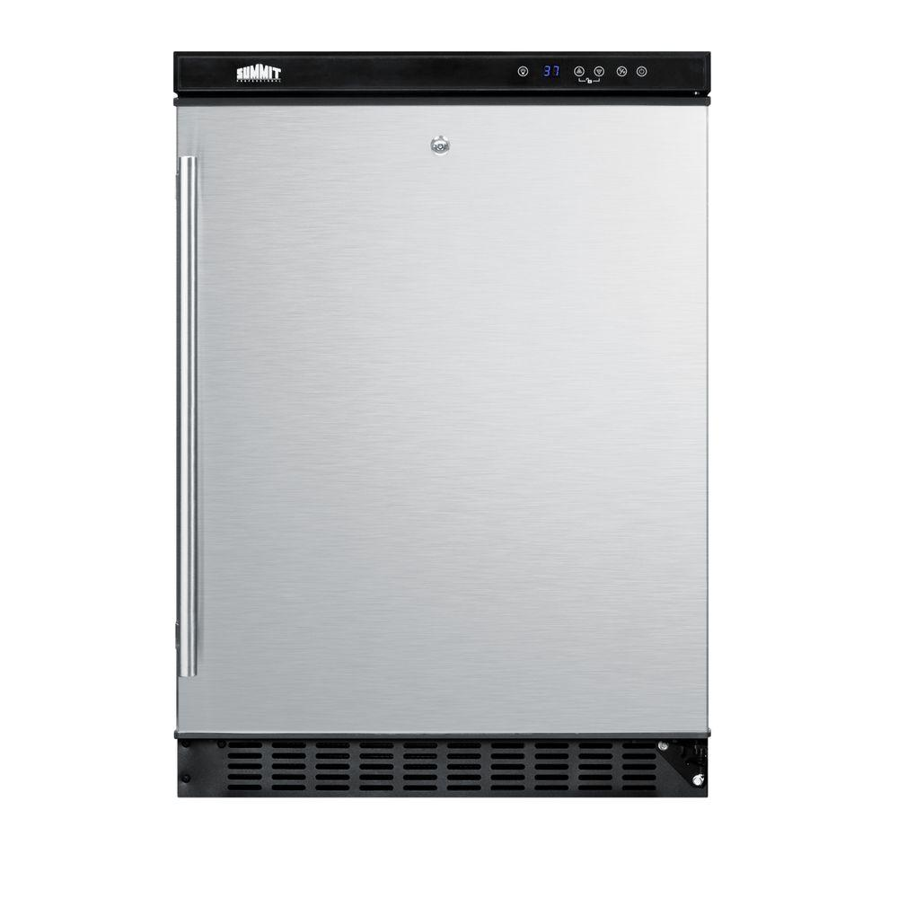 Summit Appliance 5.5 cu. ft. Refrigerator in Stainless Steel with Lock-DISCONTINUED