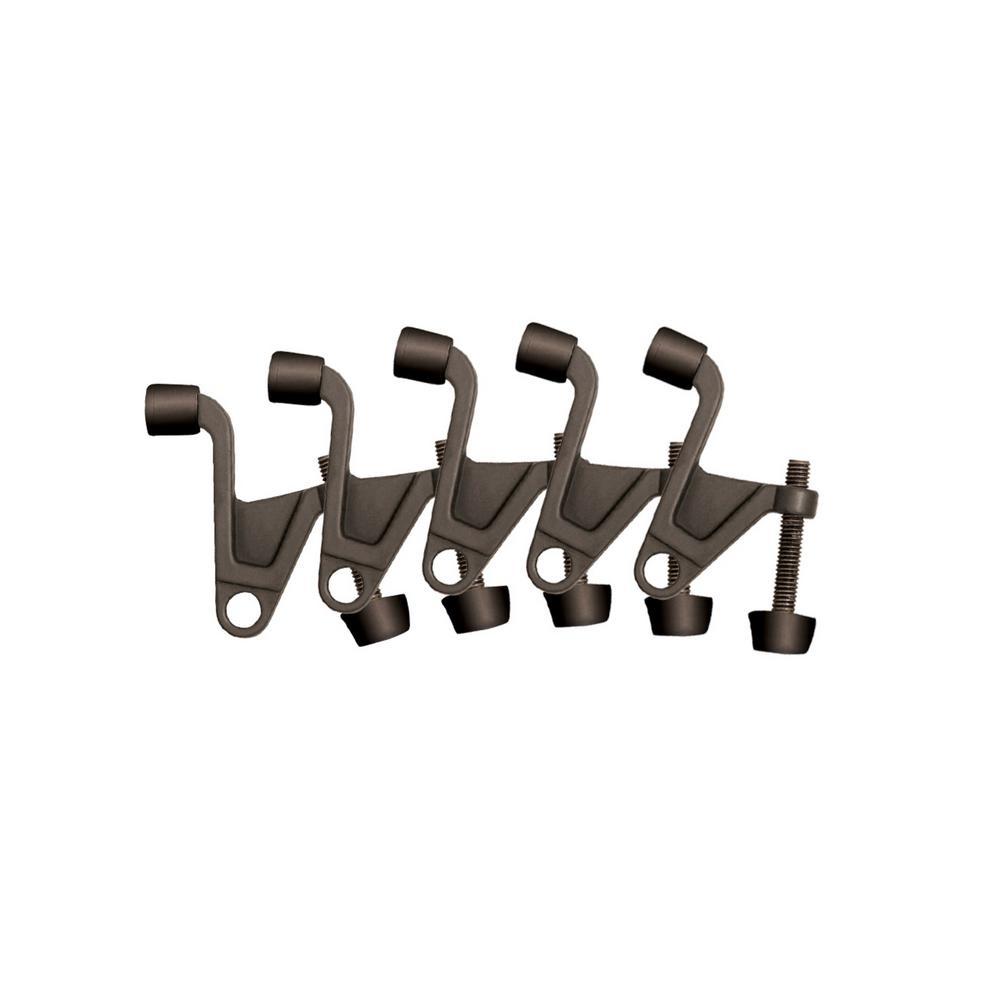 2-1/4 in. x 2-1/8 in. Oil-Rubbed Bronze Jumbo Hinge Pin Door Stop Value Pack (5 per Pack)