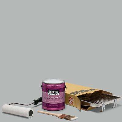 1 gal. #N460-3 Lunar Surface Ultra Eggshell Enamel Interior Paint and 5-Piece Wooster Set All-in-One Project Kit