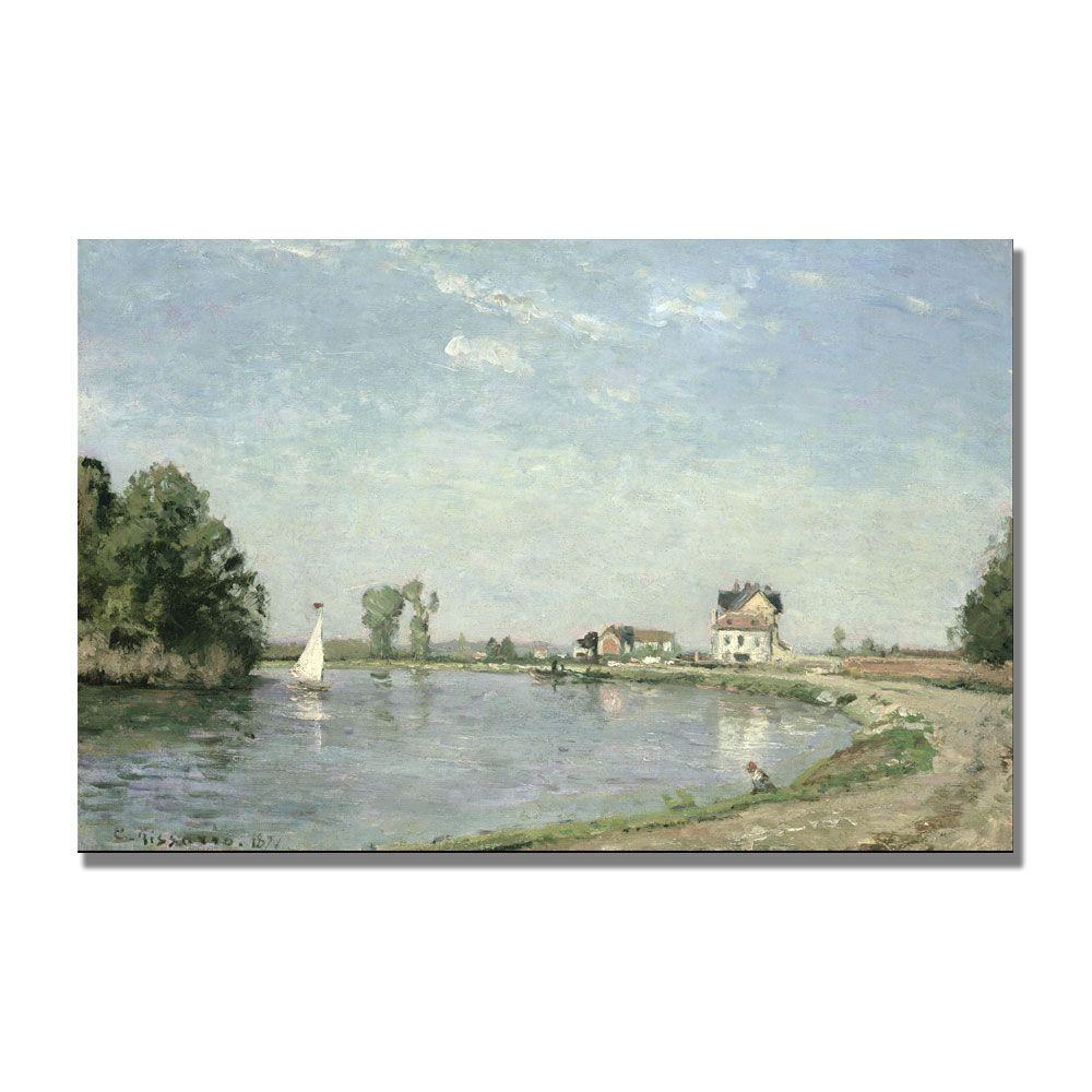Trademark Fine Art 22 in. x 32 in. At the Rivers Edge, 1871 Canvas Art
