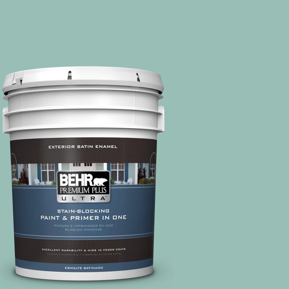 BEHR Premium Plus Ultra 5-gal. #PPU12-7 Spring Stream Satin Enamel Exterior Paint