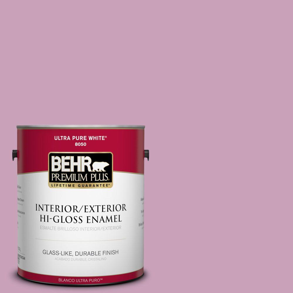 BEHR Premium Plus 1-gal. #690D-4 Taste of Berry Hi-Gloss Enamel Interior/Exterior Paint