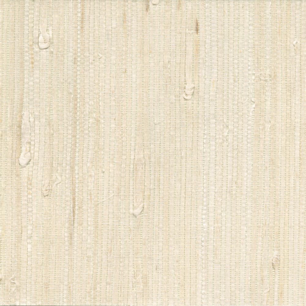 Martina White Grasscloth Wallpaper Sample