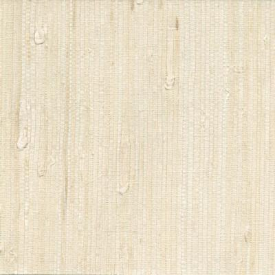 Martina White Grasscloth Wallpaper Sample