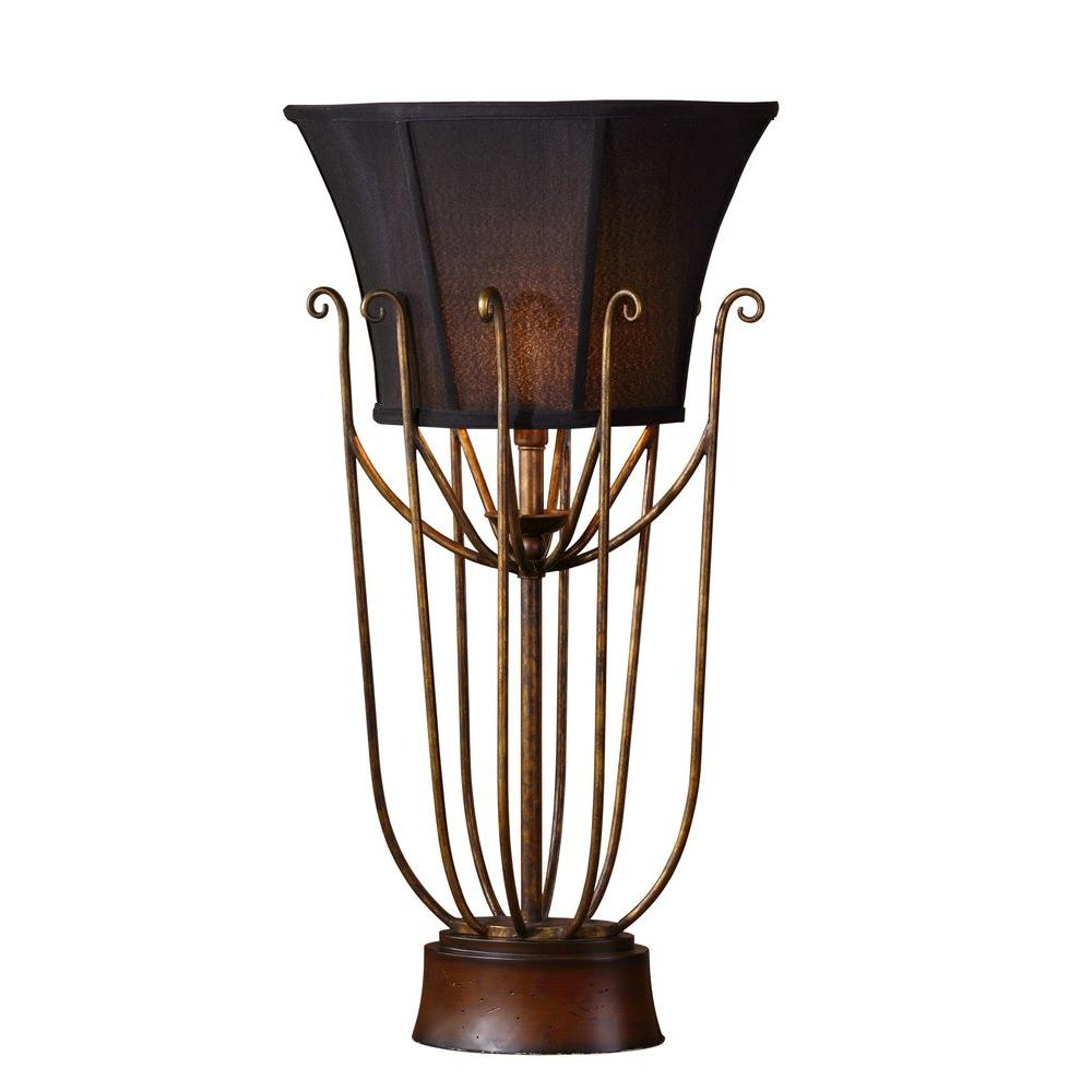 null 31 in. Antifque Gold Torchier Table Lamp-DISCONTINUED