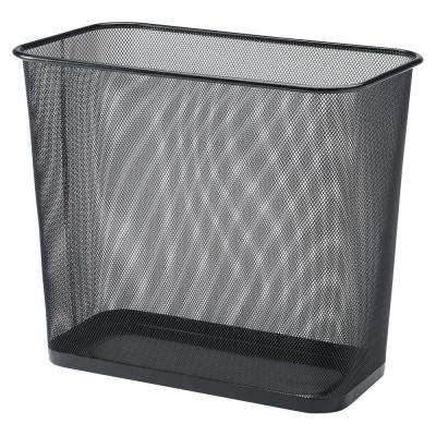 7.9 Gal. Black Rectangular Steel Mesh Trash Can
