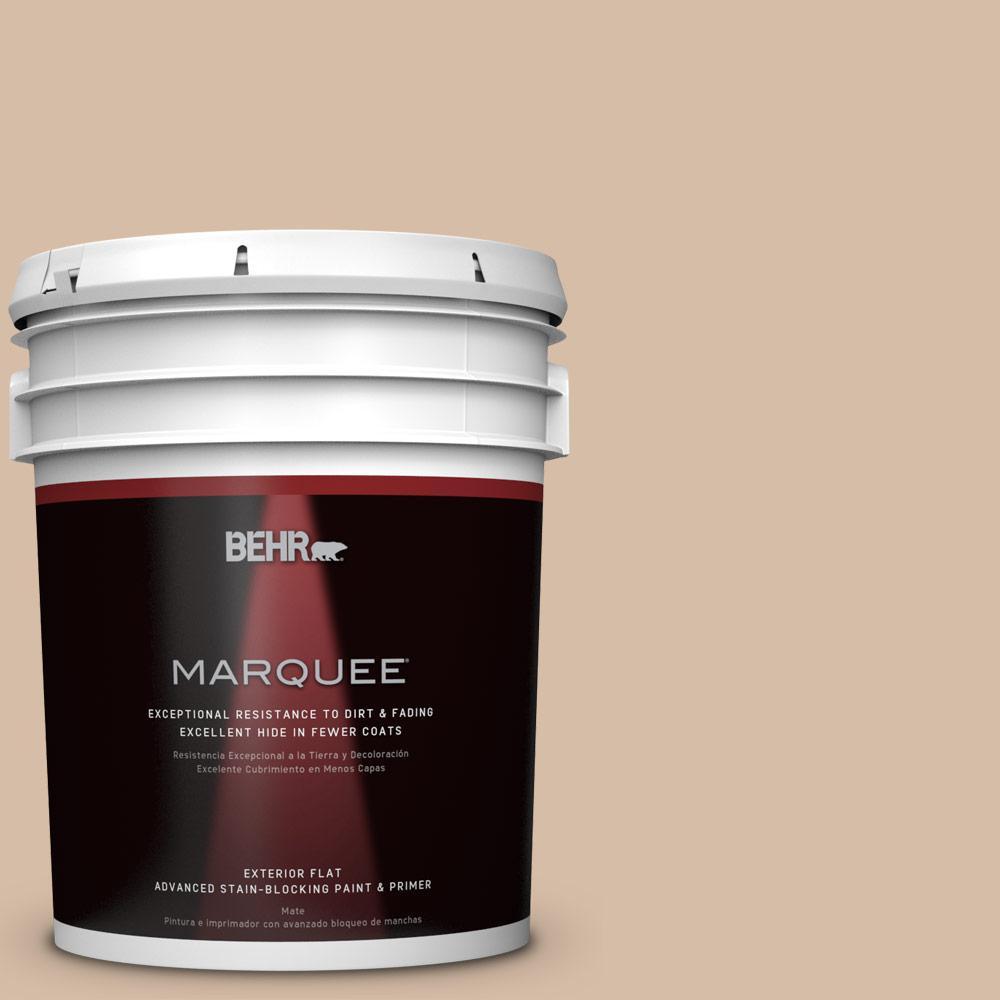 BEHR MARQUEE Home Decorators Collection 5-gal. #HDC-MD-12 Tiramisu Cream Flat Exterior Paint