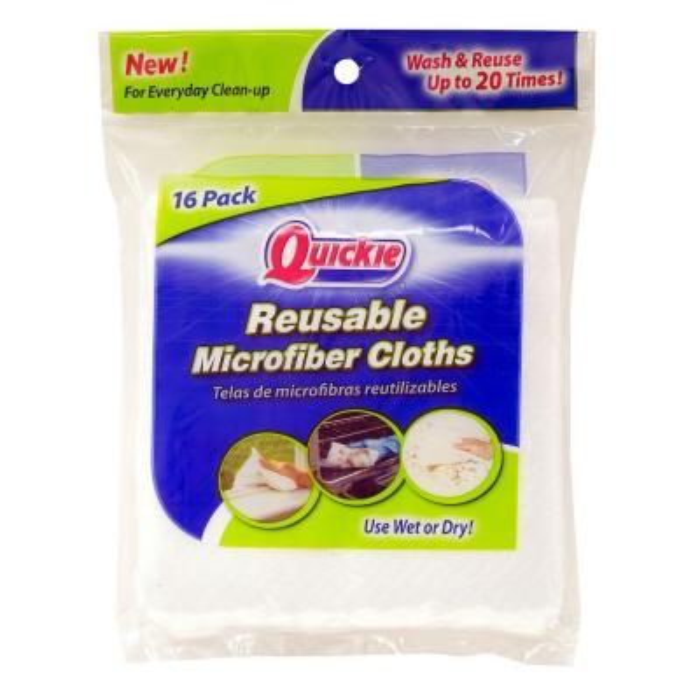 Reusable Microfiber Cloths (16-Pack)