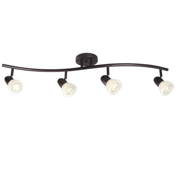 Old Bronze Track Lighting Wave Bar