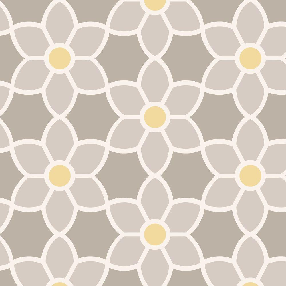 Beacon House Blossom Grey Geometric Floral Wallpaper 2535 20605