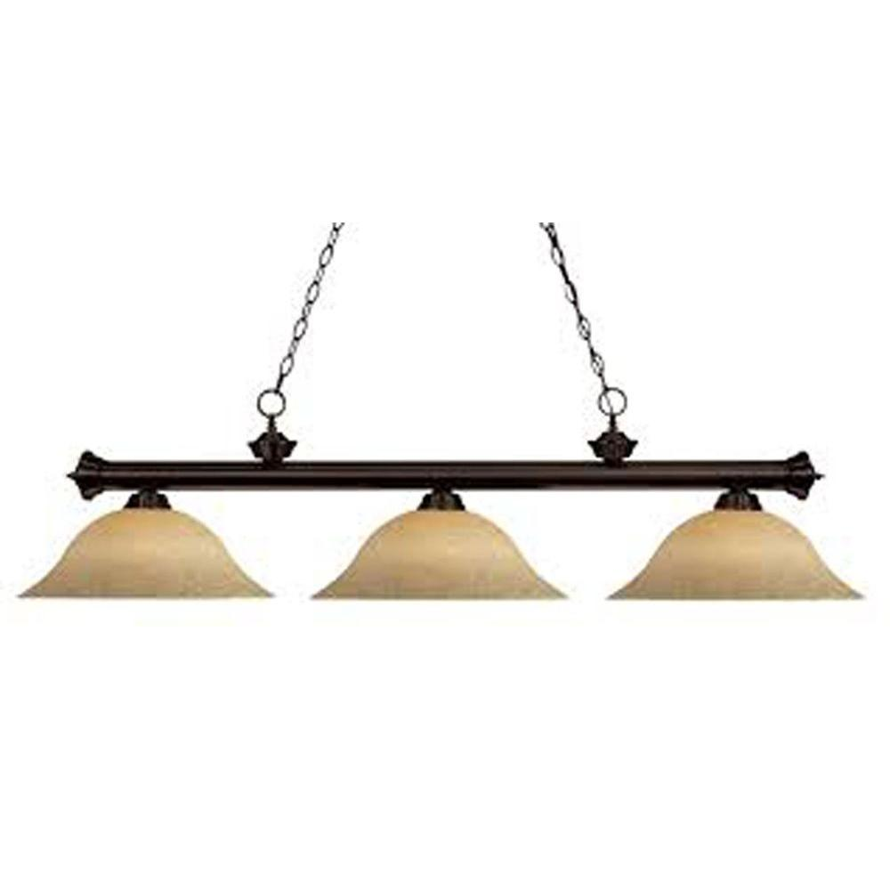 Filament Design Lawrence 3-Light Bronze Incandescent Ceiling Island Light