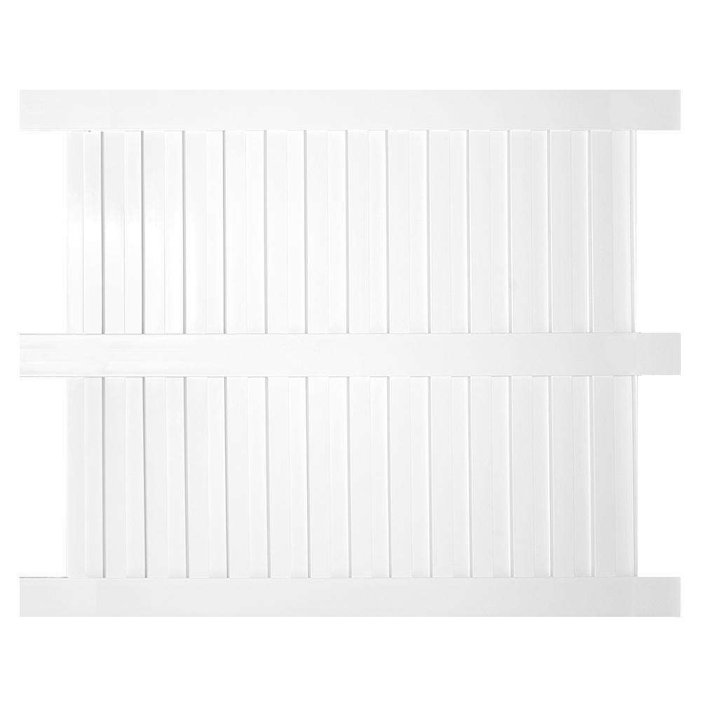 Weatherables Largo 5 ft. H x 6 ft. W White Vinyl Privacy ...