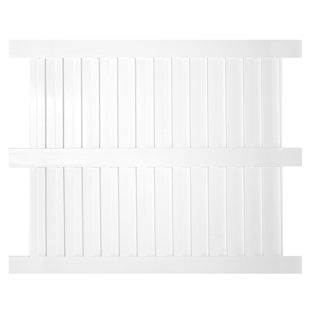 Largo 5 ft. H x 6 ft. W White Vinyl Privacy Fence Panel Kit