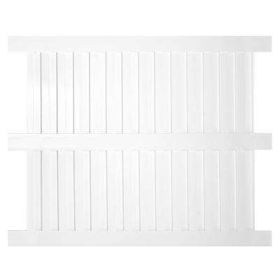 Largo 6 ft. H x 8 ft. W White Vinyl Privacy Fence Panel Kit