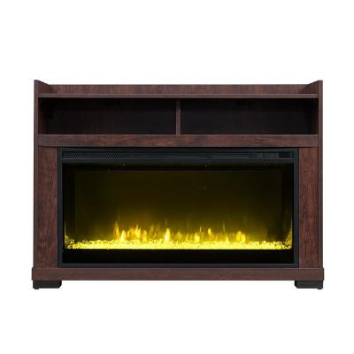 Nuxcio 44 in. Electric Fireplace TV Stand in Antique Cherry